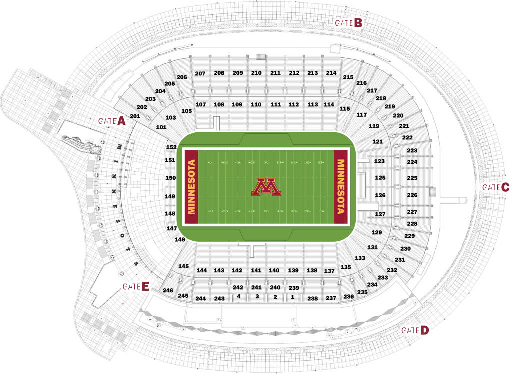 Seating charts university of minnesota athletics