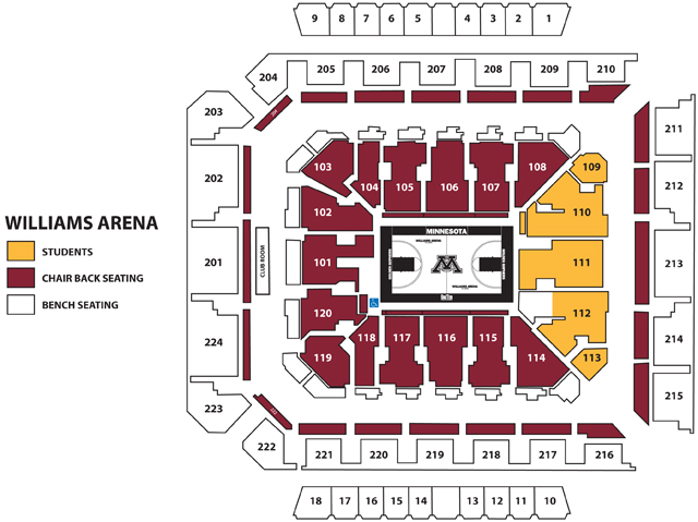Williams arena seating capacity elcho table