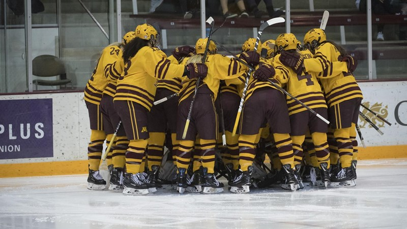 Four-Goal First Period Pushes Gophers Past RMU - University of Minnesota Athletics