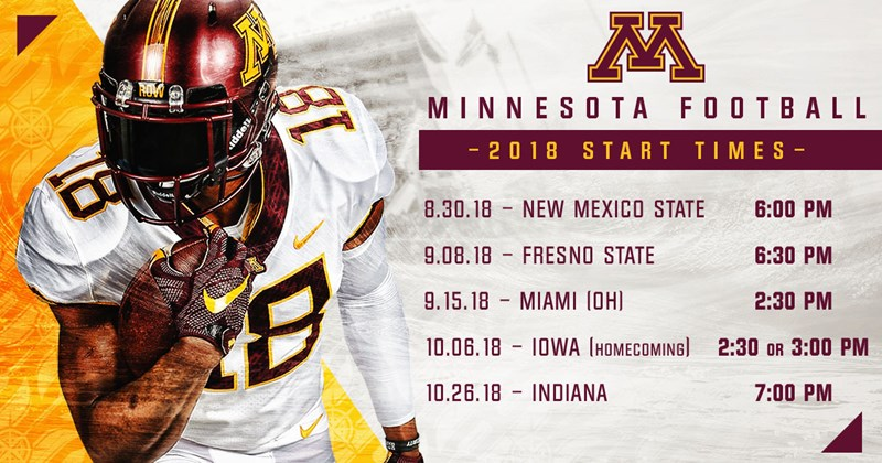 0809def44 Gophers Announce Start Times for Five Games - University of Minnesota  Athletics