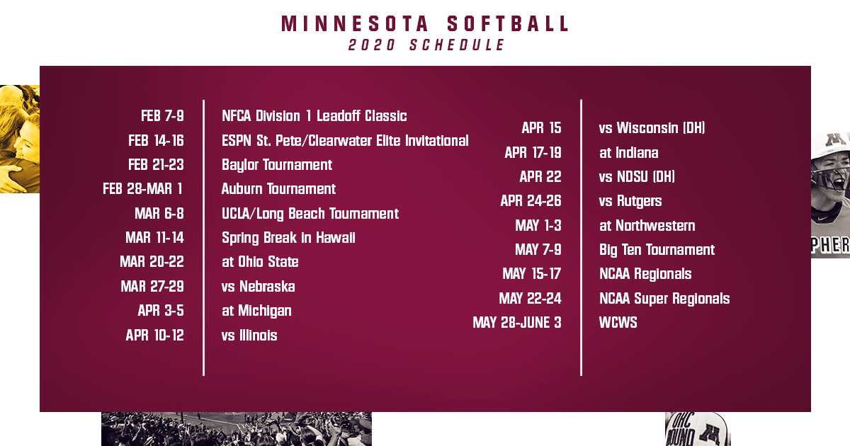 Ncaa Play In Games 2020.Trachsel Announces 2020 Schedule University Of Minnesota
